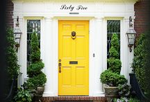 Yellow Doors + Other Bright Colors / Images of bright and colorful front doors, which I find inspirational.  Curated by Kristine Robinson of Robinson Interiors    http://robinsoninteriors.wordpress.com/ / by Robinson Interiors
