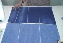 How to make flat fabric from jeans