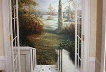 Trompe l'oeil / Mural / Muurschilderingen
