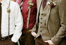 Groom and Groomsman Attire / Ideas for Groom and Groomsman Wedding Attire