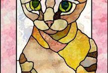 Glas Katze