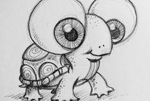 Drawing, sketching, crayon, charcoal & pastel