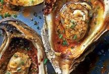 Spicy grilled oysters