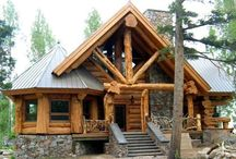 ༺♥༻ Log Homes ༺♥༻ / by H Stanbery