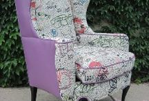 Winged Back Chair Re-Upholster