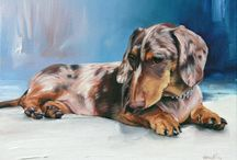 Pet portraits in Oil