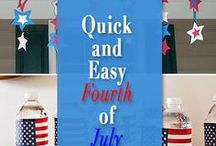 Patriotic Patriots / Red, White and Blue madness! These patriotic crafts, red white and blue recipes and more are perfect for your 4th of July BBQ, Veterans Day, or Memorial Day parties!
