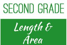 Second Grade: Length and Area / This board contains resources for Texas TEKS:  2.9A, 2.9B, 2.9C, 2.9D, 2.9E, 2.9F