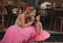 Family look / Идеи платья для мамы и дочки, фото одинаковых платьев для мамы и дочки