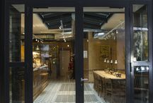 "Le Pain Quotidien / ""Le Pain Quotidien"" is the tradition of freshly baked bread and the joy to meet up  with friends around a table and share warm moments!  For this renovation they chose a white Zellige (ref.1018) for the bar and geometric tiles (ref.10618) on the ground. A perfect union in the spirit of the brand Le Pain Quotidien, smelling deliciously of warm oven-baked bread!  A truely culinary and visual pleasure!  Photos: Marie Charrial Pollylomane"