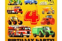 Boy's 4th Birthday Truck Party
