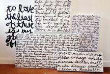 Handwriting Art / www.deeannrieves.com Email deeannrieves@gmail.com to order