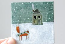 Winter Holiday Inspired / Christmas and Solstice for home, gifting, and elementary art class / by Michele Pietrzak