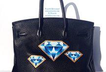Custom Handbags / Custom painted handbags and the like.