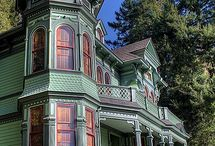 Painted Ladies / Victorian houses, often gloriously painted