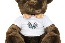 """%__LG Plush Teddies__% / Sits 14"""" high, 18"""" from head to toe (if bears have toes). via CustomizedGirl.com"""