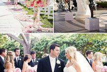 Mariage romantique, rose