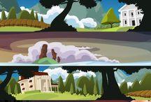 design - scenery illustrations