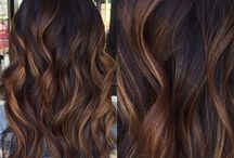 Brown Baylage Hair Caramel Ombre Highlights