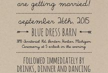 Wedding invitations / Inspiration for rustic themed wedding invitations