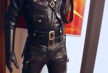 leather biker men