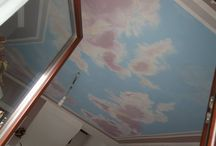 sky mural made by me / a mural made by me for me parlor