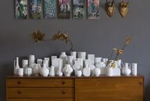 Little white vases