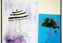 Lapsen kanssa töissä ja kotona / Askartelu ja kuvataide, art and crafts, with kids, first grade art