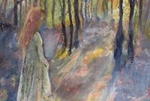 muse in the woodland