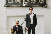 Same-Sex Weddings / same-sex weddings, gay weddings, two brides, two grooms, gay wedding inspiration, gay wedding ideas
