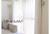 リネンカーテン / フランス産輸入リネンや国産のリネン(麻)  色はホワイト・アイボリー・グレーを基調とし、自然の素材と質感を大切にした スタイルリネンカーテン