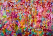 Pink art / Expressive vibrant pink paintings. #art #abstract #modern #pink