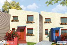 Casa parter cu etaj pe structura metalica usoara