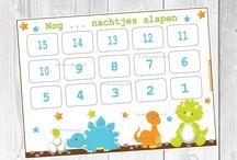 Vrolijke kalenders / Kalenders om zelf te printen