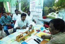 AISMK Party President Mr. Sarath Kumar meeting with Mr. Jayapal j