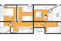 3D Unit Plans / 3D plans, to aid in the planning of interior residential spaces.