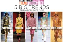 Trends - Spring Summer 2015 / Trends for Spring Summer 2015 - Fashion and home decor trend forecasts to help designers and craft business owners to create on-trend products. See trending colors, accessories, clothing, and decor for the spring summer season.