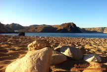 """Parque Natural Cabo de Gata - Níjar / El Parque Natural de Cabo de Gata-Níjar es un """"paraíso"""" que merece la pena ser descubierto, un entorno lleno de contrastes, tierra, mar, acantilados, playas, calas…, un árido desierto salpicado de especies vegetales y animales sorprendentes y originales, perfectamente adaptadas a los rigores de este ecosistema, un espacio litoral cincelado sobre las erupciones de antiguos volcanes. Todo esto y mucho más espera a ser visitado en el parque."""