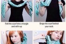 Styling Scarves / Gorgeous stylish ways to tie and wear scarves.