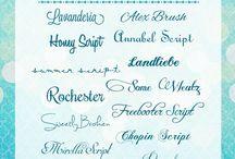 typografia / Fonty czcionki