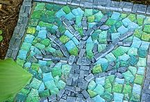 Mosiac stepping stone / Mosiac