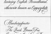 Curvy letters - Copperplate and stuff