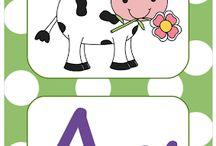 ΓΡΑΦΩ...ΝΟΥΛΕΣ!!!! / Τα γράμματα, το αλφάβητο στο νηπιαγωγείο, ιδέες για την τάξη. / by Kinderella (Elena Makri)