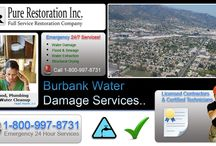 Burbank - Water Damage Restoration Service / Serving the Burbank, California areas for Water Damage Restoration & Repair Services. Call us anytime at 1-800-997-8731..