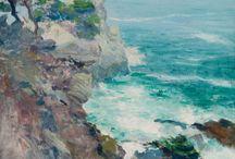 LA CALIFORNIE VUE PAR LES PEINTRES. / Peintres de talent qui nous offrent une diversité de paysages californiens.