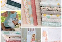 Littlest Fabric Collection / Manufactured from luxuriously soft 100% Pima Cotton, sweet musings and darling bunnies capture child-like innocence with hues of mint, grey & peach.  See full collection here: http://www.studiocollection.co.za/littlest-fabric-collection.php