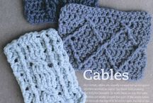 Crochet cable stitches