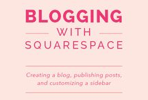 Squarespace / How to use Squarespace, blogging with squarespace, web design