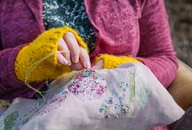 Sew...a needle pulling thread / Beautiful textiles, fabrics and embroidery that I love