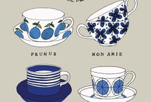 Scandinavian design / Patterns, prints, graphic, illustrations made by Swedish artists and designers.